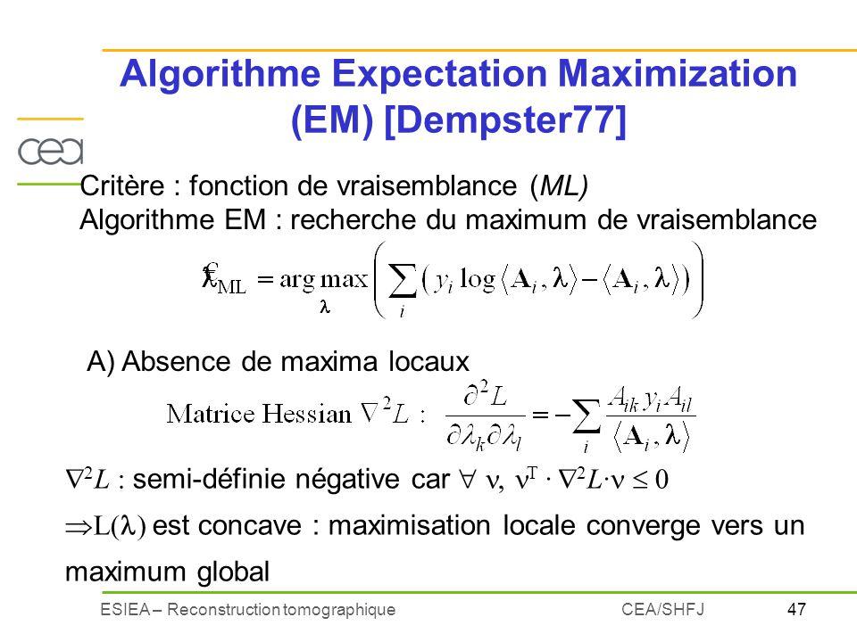 Algorithme Expectation Maximization (EM) [Dempster77]